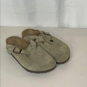 Birkenstock Boston Suede Leather Clog